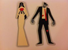 Halloween Wedding Cake Topper - the one benefit if we have to push to fall