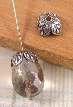 Leaf Bead Caps from Nunn Design in Silver  6 by beadbarnsupplies