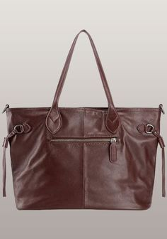 1d2f85196e92 Never Full Leather Tote Burgundy - Beautiful dual strap high quality leather  handbag Winter Outfits Men