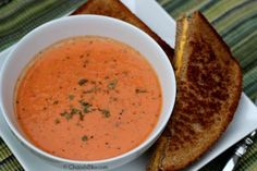 Gloomy days mean lots of warm soup to heat you up! Try this Basil Tomato Bisque recipe - you may even have the simple ingredients on hand!