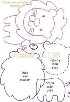 I love crafts: Safari pets in Eva with shapes – … - Stofftiere Quiet Book Templates, Felt Templates, Quiet Book Patterns, Applique Templates, Card Templates, Felt Animal Patterns, Stuffed Animal Patterns, Baby Crafts, Felt Crafts