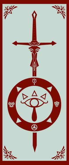 flag of Sheikah protection by Rnoise on deviantART - Gamer House Ideas 2019 - 2020 The Legend Of Zelda, Link Zelda, Zelda Tattoo, Videogames, Master Sword, Twilight Princess, Deviantart, Geek Out, Video Game Art