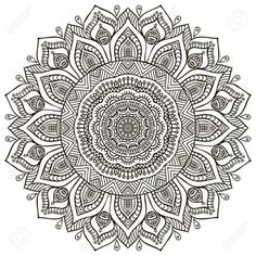 Mandala background Vintage decorative elements Hand drawn background is part of Mandala coloring pages - Illustration of Mandala background Vintage decorative elements Hand drawn background vector art, clipart and stock vectors Image 42201414 Mandala Art, Mandalas Painting, Mandalas Drawing, Mandala Coloring Pages, Mandala Pattern, Zentangle Patterns, Coloring Book Pages, Dot Painting, Zentangles