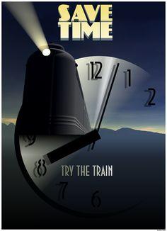 Art Deco Train | Art Deco Train Posters Tags: art deco, poster, train