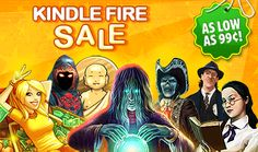This week we're running a very cool SALE on Kindle Fire! Starting today through October 12th, play seven top-notch games for as low as 99¢! Learn more: http://www.g5e.com/sale!
