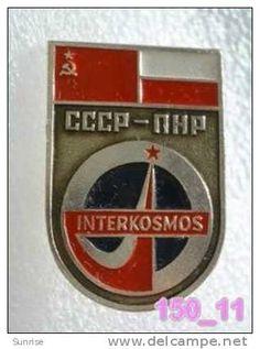 SPACE: Intercosmos - international space fly programm USSR-Poland / old soviet badge USSR_150_sp7319 - Delcampe.com