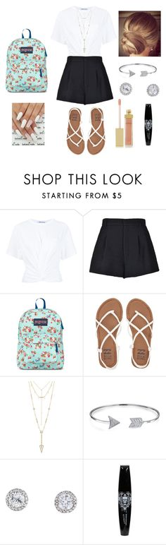 """School outfit #5"" by janelee7549 ❤ liked on Polyvore featuring T By Alexander Wang, RED Valentino, JanSport, Billabong, House of Harlow 1960, Bling Jewelry and AERIN"