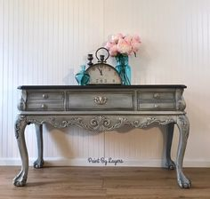 Foyer / Hall/ Sofa / Entryway Table with drawers Painted Sofa, Painted Buffet, Entry Tables, Sofa Tables, Furniture Makeover, Home Furniture, Entryway Furniture, Furniture Stores, Cheap Furniture