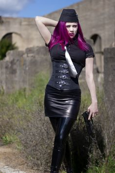 Alternative model Exotic Vampire from Vampirefreaks in a #Gothic Industrial shoot called exterminate