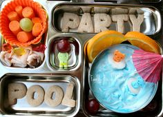 Bento Love: Cool Pool Party #bento lunch box