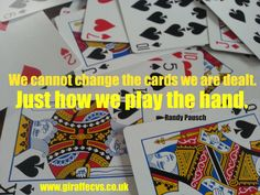Must-read blog: Play your cards right to secure your dream job http://www.giraffecvs.co.uk/play-your-cards-right/