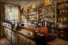 Mike Savad - Pharmacist - The dispensatory Diploma Display, Witch Store, Herbal Store, Store Layout, Le Far West, Shop Interiors, General Store, Rustic Kitchen, Retail Design