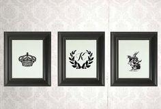 Custom Nursery Art  Set of 3 custom prints for by LADYBIRDINK, $48.00
