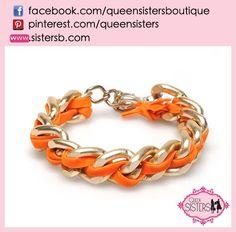 #bracelet #shackles #orange