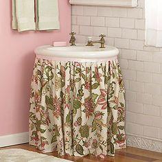 Top 10 Easy Diy Sink Skirts Sink Skirt Sinks And Bathroom Sink Skirt