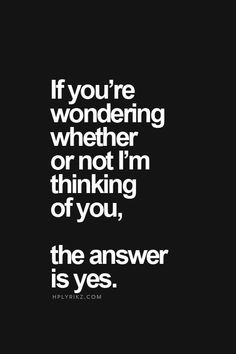 ...you don't always need to ask the question, to know the answer...