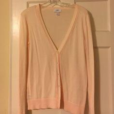 LOFT 100% Pima cotton pink cardigan LOFT 100% Pima cotton pink cardigan (size medium). Perfect for work! Lightweight and great for layering. LOFT Sweaters Cardigans