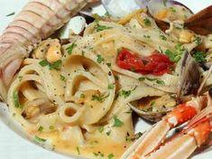Scialatielli ai frutti di mare. INGREDIENTI della ricetta originale degli scialatielli