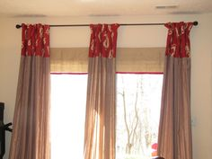 Sliding Glass Doors Curtain Ideas In Red And Yellow | Bibbidi Bobbidi  Beautiful: How To