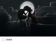Marichat night balcony kiss