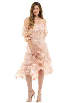 ff634387d48 Marchesa Notte Pink Floral Asymmetric Evening Dress – Hire That Look