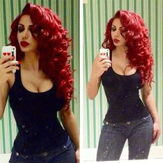 THIS is the kind of red hair I always wanted. Red hair, curly, wavy and hot!