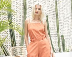 XX Independent fashion label XX Designed in Australia XX Made in Bali XX Linen Pants, Fashion Labels, Wrap Dress, Suits, Orange, Dresses, Design, Linen Trousers, Wrap Around Dress