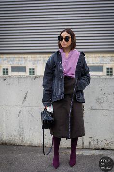 Paris SS 2018 Street Style: Maiko Shibata