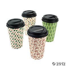 Christmas Print Insulated Cups...$5