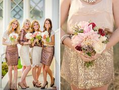 Bridesmaids in Skirts - A Twist on the Traditional | One Fab Day <3 <3 <3
