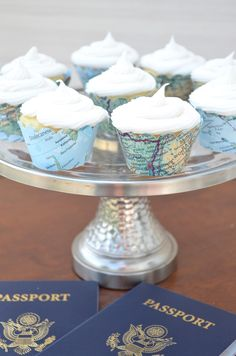 Vintage Map Mini Cupcake Wrappers - Let the adventure begin with these colorful world atlas mini wrappers. These vintage map mini cupcake wrappers are perfect for sprucing up any mini cupcake! | The Path Less Traveled