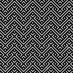 Idea for two-colour stranded colour knitting. Seamless black and white pattern