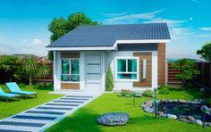 Planta de Casa Pequena e sofisticada com 2 quartos - Plantas de Casas