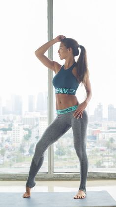 Try leggings with shaping lines and figure-hugging material to look your best while you workout. Let Daily Dress Me help you find the perfect outfit for whatever the weather! dailydressme.com/