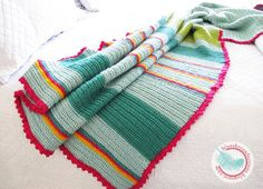 Blue Sky Confections: Bright, Colorful, Crocheted Afghan
