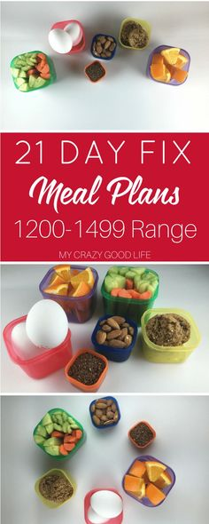 21 Day Fix Meal Plans in the 1200-1499 Calorie Level can be hard to find. Mix it up with some of these awesome and easy meal plans! #21dayfix #beachbody #mealplan