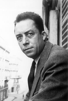 Portrait of Albert Camus - (French Algerian author, philosopher, and journalist who was awarded the Nobel Prize for Literature in 1957.