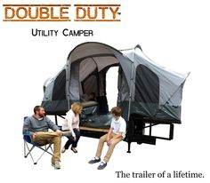 Double Duty Utility Camping Trailer -  At The USA Trailer Store, our duty is a responsibility to build exceptional work and recreational trailers to fit your life. Double Duty Utility Camper is the fulfillment of that obligation.