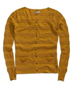 Look at this TIMEOUT Bright Gold Button-Up Cardigan on #zulily today!