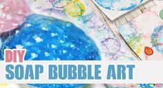 DIY: Soap Bubble Art | Personalize your Notebooks!