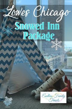 "Loews Chicago Hotel invites guests to get ""Snowed Inn."" Whether escaping cabin fever at home or needing to warm up after a cold day enjoying Chicago in winter, Snowed Inn provides everything your family needs to stay cozy during the winter months."