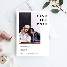 Modern Save The Date Template Photo Save The Date Card