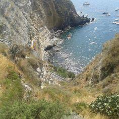 Baia di Sorgeto. Terme naturali. Ischia.Italia