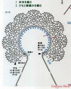 Crochet Collar Pattern, Crochet Necklace Pattern, Crochet Lace Collar, Free Crochet Doily Patterns, Crochet Yoke, Crochet Diagram, Irish Crochet, Lace Knitting, Crochet Doilies