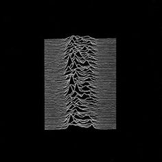 Peter Saville: Unknown Pleasures by Joy Division, minimalist album design depicting the radio pulses of a dying star.