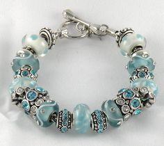 New Light Aqua Complete Charm Bracelet Beads Bracelet Brighton Jewelry Bag | eBay
