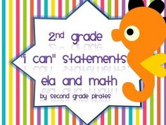 "These are half page ""I Can"" statements in simple wording for students to understand. Each statement has a unique character attached to it. I back my statements with a little magnet so I can hang them by my schedule for the day. If you are looking for a neutral ""I Can"" statement, I have one in my shop."