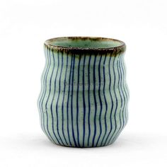 Japanese Tea Cup With Stripes