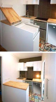 Una idea genial para esconder la lavadora!