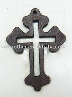 wood cross,black cross